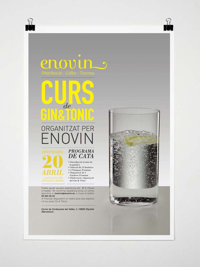 Cartel Curs Gintonic